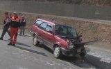 Otomobil ile tanker çarpıştı: 2 yaralı - GÜMÜŞHANE